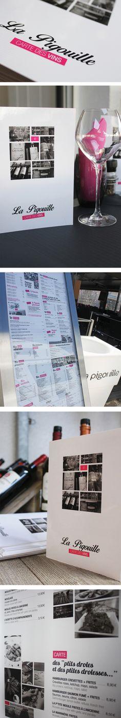 La Pigouille - Restaurant et vente à emporter de fruits de mer Refonte de I'identité visuelle et réalisation des menus 2014