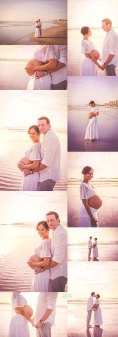 Sunrise Maternity Session by Tara Merkler Photography in New Smyrna Beach, Florida
