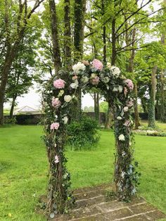 Outdoor Wedding Ceremony Floral Archway Outdoor Ceremony, Wedding Ceremony, Wedding Flowers, Floral Wreath, Wreaths, Photo And Video, Instagram, Decor, Mariage