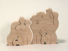 A wooden puzzle of Kitten's family, designed by Japanese master woodcraftsman, Oguro Saburo. Your children will love this Kitty Puzzle that has wonderful expression. Alsoa great item for Interior Design.
