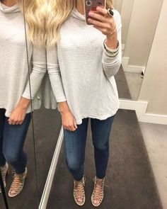 this gray Free People pullover is a keeper the back is super cute