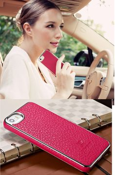 Awesome Iphone case! For Iphone 5S, leather material comfortable to touch , simple and elegant , 5 colors .