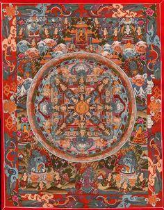 Poster - Buddhist Mandala (Picture Religion Buddha Buddhism Oriental Asia Art)