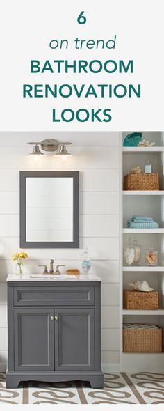6 On Trend Bathroom Renovation Looks