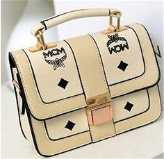 Unique Letters & Diamond Pattern Belt Buckle PU Leather Shoulder Bag, Street Style Messenger Bag BG0206   Best Street Style