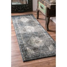 nuLOOM Traditional Vintage Fancy Blue Runner Rug (2'8 x 7'11) | Overstock.com Shopping - The Best Deals on Runner Rugs