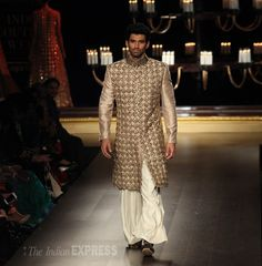 Aditya Roy Kapur for http://www.ManishMalhotra.in/ at Shree Raj Mahal Jewellers India Couture Week (July) 2014