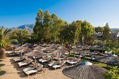 corissia park Hotels, Crete Greece, Outdoor Furniture Sets, Outdoor Decor, Strand, Places To Visit, Patio, Home Decor, Normandie