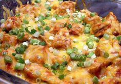 Ingredients 2 lbs. (32 oz.) chicken breasts, boneless and skinless 1 cup salsa, homemade or purchased 1 cup petite diced canned tomatoes (choose low-sodium) 2 tbsp. taco seasoning 1 cup onions, dic...