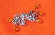 Fire Opals Brooch