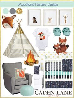 Top 3 Crib Sets for your Woodland Nursery Design by Caden Lane.