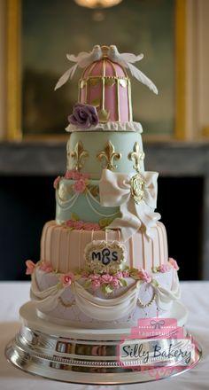 Round Wedding Cakes - Bruidstaart, wedding cake Madame de Pompadour