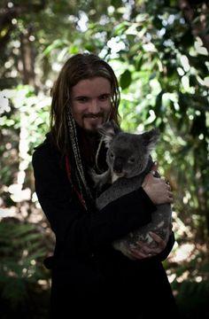 Perttu Kivilaakso with a koala in Australia