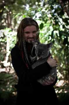 Perttu Kivilaakso with a koala in Australia