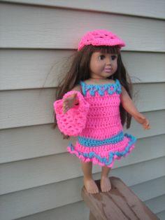 Crochet Pattern for 18 inch doll - fits American Girl