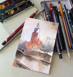 Sure, it's a watercolor painting study...