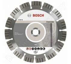 Фото алмазного диска для УШМ по бетону Bosch Best for Concrete 2608602653