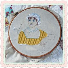 Jane Austen Hand Embroidery pattern with by fromthecraftroom