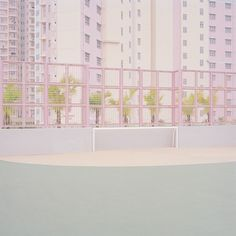 Pastel-Hued Courts by Ward Roberts | AnOther