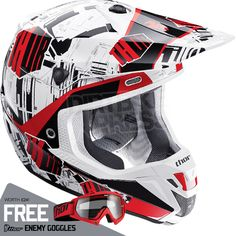 2015 Thor Verge Helmet - Block Red