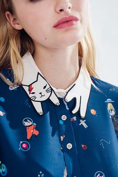 Ziggy Cat Dress (David Bowie Inspired Print) -misspatina.com