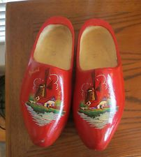 Art Pottery Humor Delft Miniature Plate With Pair Of Clogs