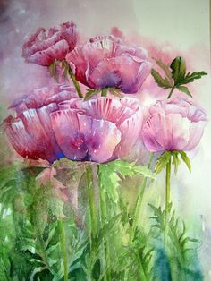 Watercolour Florals: Patty's Plum Poppies Yvonne Henry