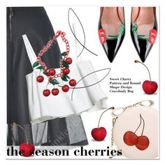 """season cherries"" by paculi ❤ liked on Polyvore featuring RED Valentino"