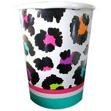 RAINBOW LEOPARD PRINT 9oz PAPER CUP (8) ~ Birthday Party Supplies Beverage Drink 8th Birthday, Birthday Parties, Cheetah Birthday, Beverages, Drinks, Beverage Drink, Party Supplies, Rainbow, Cold
