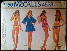 McCall's 4523 Misses' Set of Swimsuits And by ThePatternShopp