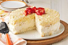 Yup, you read that right.  This showstopper of a dessert is a no-bake - we're pretty sure this Pineapple No-Bake Cheesecake Dessert will be a hit!