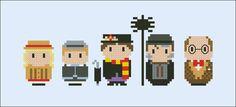 Mary Poppins parody Cross stitch PDF patterb by cloudsfactory