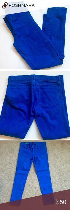 "Cobalt blue J Crew toothpick skinny stretch pants Excellent condition. 99% cotton 1% spandex//approx measurements: 30"" waist, 27"" inseam J. Crew Pants Skinny"