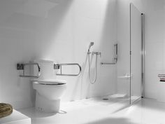 Ceramic toilet for disabled with external cistern New Meridian Collection by ROCA