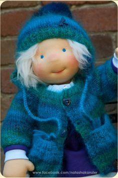 Traditional Waldorf doll 18 inch. Christmas by kiwinestling