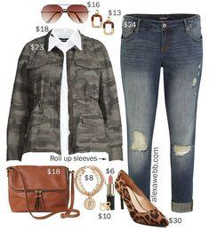 Plus Size on a Budget – Camo Jacket Outfit - Alexa Webb : Plus Size on a Budge. Plus Size on a Bud Plus Size Fall Outfit, Plus Size Fashion For Women, Trendy Clothes For Women, Plus Size Womens Clothing, Plus Size Outfits, Size Clothing, Golf Clothing, Trendy Clothing, Clothing Stores