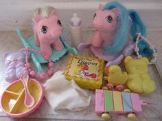 My Little Pony Twins Sticky & Sniffles newborn twins G1 1987-1988 toy