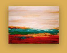 Dies ist ein original abstrakt Gemälde Acryl Künstlers Ora Birenbaum. Schöne reiche Schattierungen von rot, Orange, gelb, Rosa und kuschelig braun werden mit Noten von Creme und metallisches Gold akzentuiert. Sehr stark texturierte für erstaunliche Tiefe. Die Seiten werden abgeschlossen. Kommen unterzeichnet, versiegelt und für einfache Display verkabelt. Titel: Herbst Himmel Abmessungen: 24x48x1.5 Technik: Acryl auf Leinwand ZIMMER ANSICHTEN MÖGLICHERWEISE NICHT MAßSTABSGETREU. Alle m...