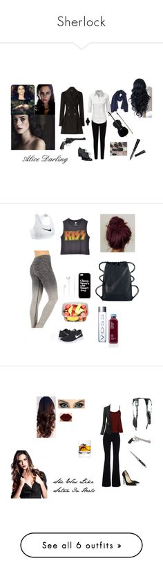 """Sherlock"" by ruby-girl ❤ liked on Polyvore featuring Effy Jewelry, Burberry, EAST, Franco Sarto, TIBI, CLUSE, Revolver, All Black, NIKE and Casetify"