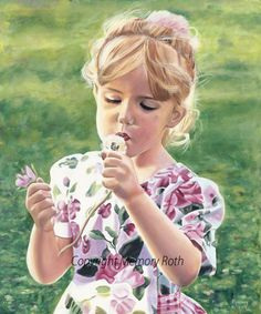 """""""Simple Moments"""" Original Oil, a painting I did of my daughter - Memory Roth"""