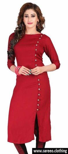New stylish kurti neck d esigns for women - ArtsyCraftsyDad Salwar Designs, New Kurti Designs, Kurta Designs Women, Kurti Designs Party Wear, Churidar Neck Designs, Plain Kurti Designs, Indian Kurtis Designs, Kurti Designs Pakistani, Neck Designs For Suits