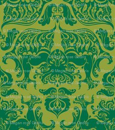 I Love Craft (Cthulhu Damask) get it as fabric or wallpaper...