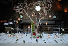 An awesome table arrangement from Rebecca Shepherd Floral! https://www.facebook.com/Foundrynyc