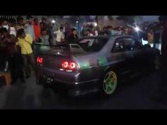 Modified Mistibushi Back Fire Stunt At Auto Show Faislabad