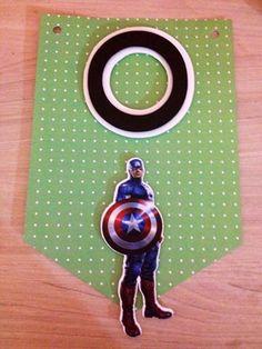 Bandeirola Super Heróis