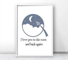 Printable Nursery Art Moon And Stars Nursery von LimitationFree