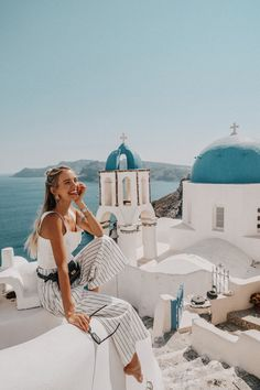Santorini Greece Outfit - Bally bag Staud top Mango pants Marni sunglasses by ohhcouture Leonie Hanne Travel Pictures, Travel Photos, Travel Tips, Europe Photos, Travel Goals, Travel Hacks, Travel Videos, Travel Style, Adventure Awaits