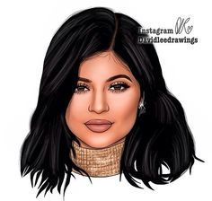 Digital drawing of Kylie Jenner! https://instagram.com/davidleedrawings/?hl=en #KylieJenner