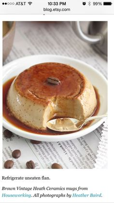 Coffee Flan - made in a coffee cup!