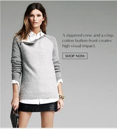 Banana Republic zipper sweater